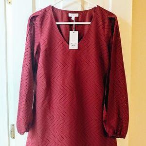 NWT- Candie's split sleeve shift dress